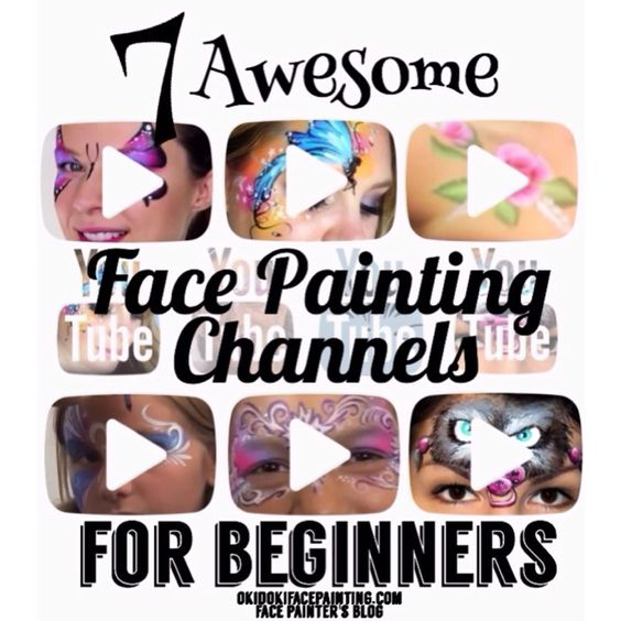 7 Awesome Face Painting YouTube Channels for Beginners -- OkidokiFacePainting.com Face Painter's Blog