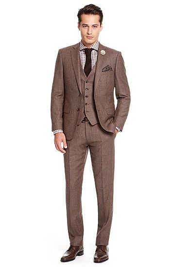 Hugo Boss 'Howard/Court' 3-Piece Suit, Dark Red/Brown. I love Hugo