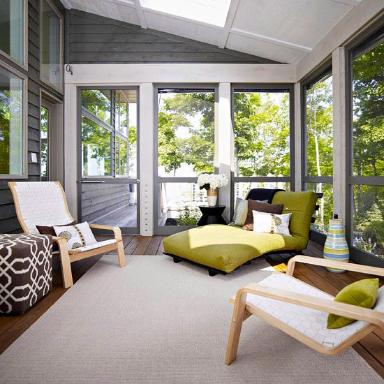 Indoor Porches You\'ll Love | Porch, Sunroom and Spaces