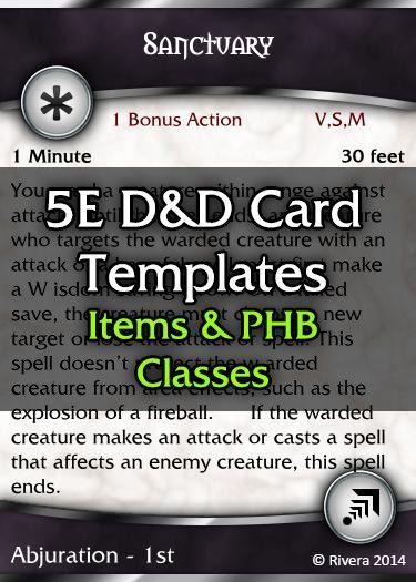 Tintagel S 5e D D Card Template Core Creative Gremlins Drivethrurpg Com D D Card Template Templates