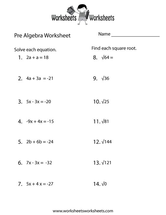 Worksheet Basic Pre Algebra Worksheets pre algebra worksheets 6th grade 1 word math worksheet practice printable lessons pinterest grade
