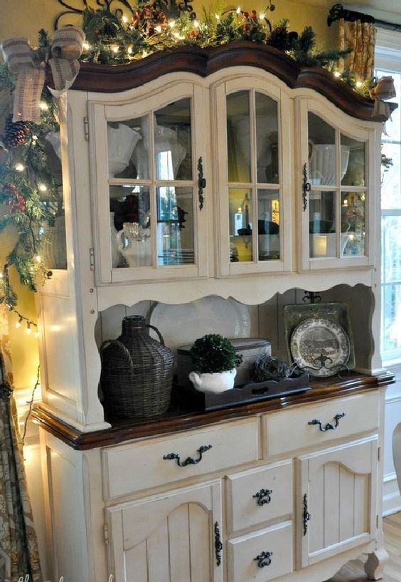 Most Beautiful Antique China Cabinet Makeover Ideas (17) – BosiDOLOT