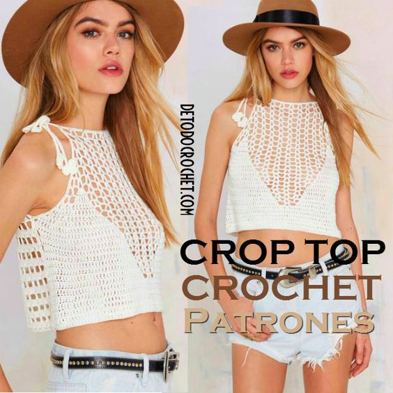 Cómo tejer Top Crochet / moldes y patrones | Todo crochet: