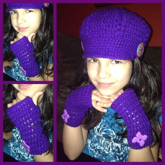 Boina y guantes... #crochet