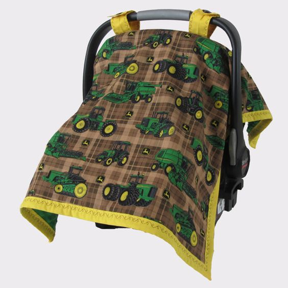 John Deere Handmade Baby Carseat Canopy Cover by LuxBabyShop, $30.00