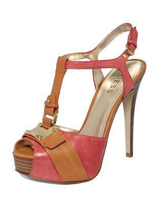 GUESS Women's Shoes, Kringana Platform Sandals