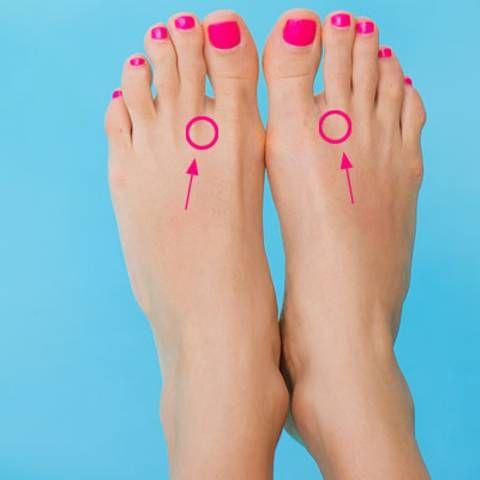 Wohltat: Drück diese zwei Punkte auf deinen Füßen - der Effekt ist erstaunlich!