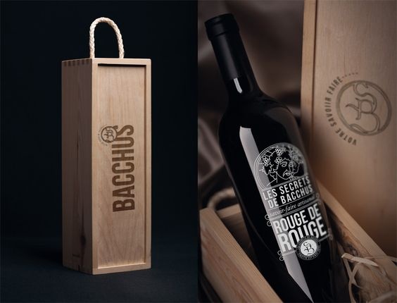 embalagem para promoção madeira