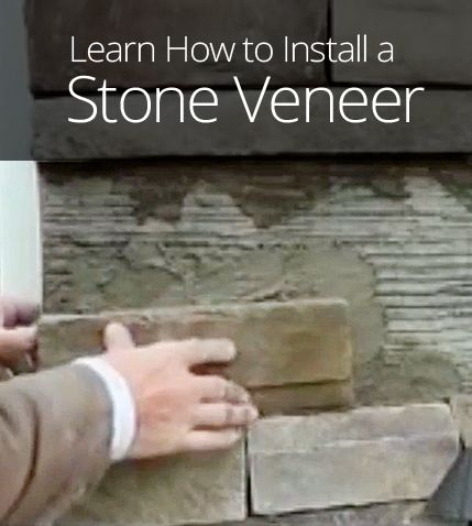How to install a stone veneer diy outdoor projects for How to install stone veneer over stucco