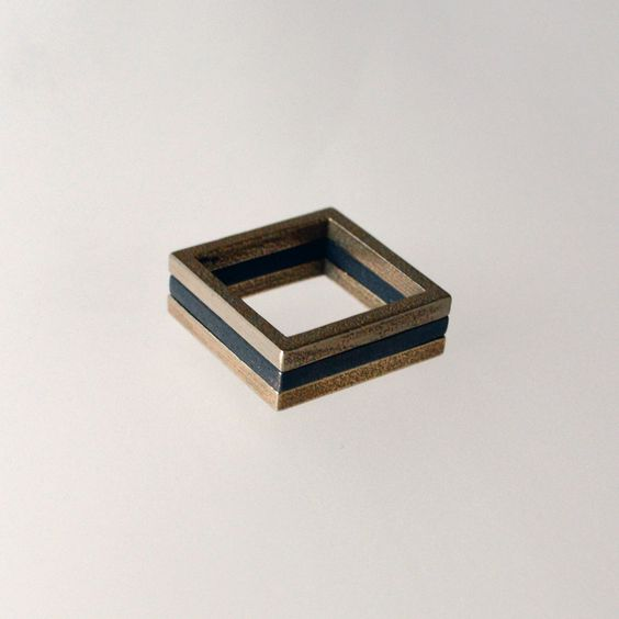 3 SLIM SQUARE Ring by Tat Chao Designs. Canadian Made. See the designer's work at the 2016 American Made Show, Washington DC. January 15-17, 2016. americanmadeshow.com #americanmadeshow, #canadianmade, #ring, #jewelry, #square