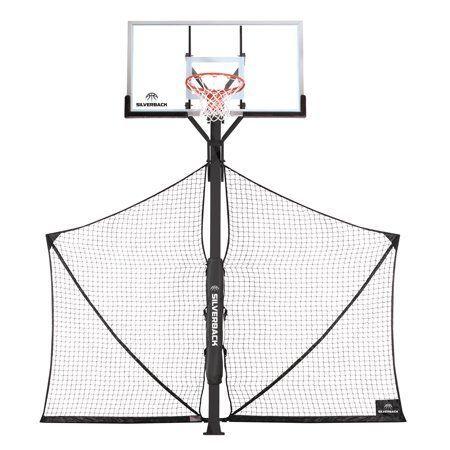 Silverback Basketball Yard Guard Defensive Net System Rebounder Black Rebounding Basketball Systems Vertical Jump Training