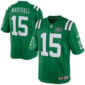 Nike Brandon Marshall New York Jets Green Color Rush Limited Jersey
