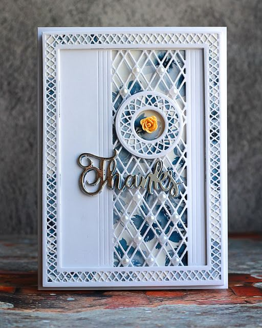 Layered Lattice Card With Images Greeting Cards Handmade
