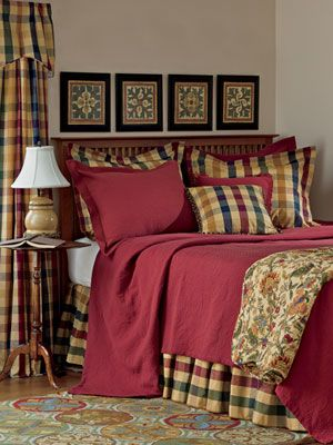 Plaid, Country curtains and Love on Pinterest