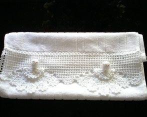Toalha de lavabo com anjos
