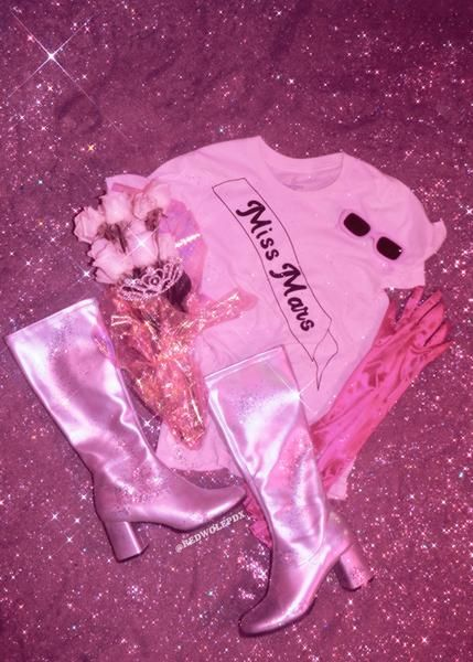 Miss Mars Tee Pastel Pink Aesthetic Pink Aesthetic Pink