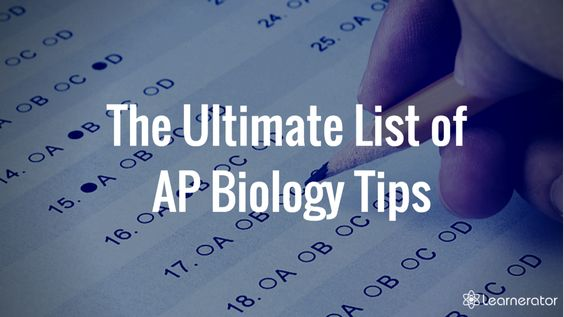 AP Biology Tips
