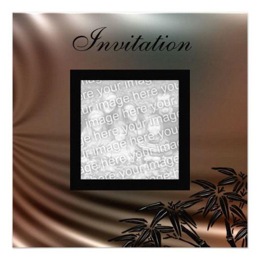Invitation All Occasions Silk Gold Photo Custom Invitations