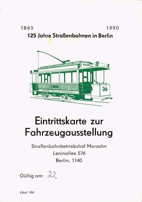 125 Jahre Straßenbahnen in Berlin