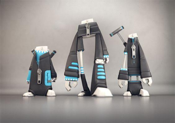 Designer Vinyl Toys - Curling Players by Fabrice Le Nezet