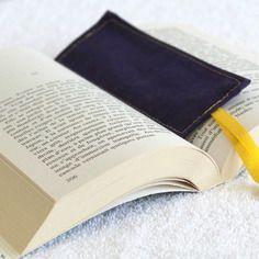 Marque-page en coton et ruban