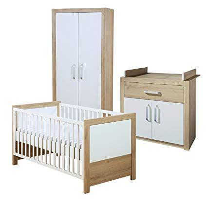 Roba Komplett Kinderzimmer Lousia Babyzimmer Set Weiss Span Eiche Mit Baby Bzw Kinderbett 70x140 Cm W Komplett Kinderzimmer Babybett