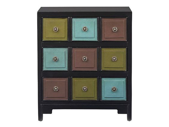 For a colorful display ready to perk up any room's decor, rent the Multi color chest.: Living Rooms, Multi Color, Color Chest, Bathroom Organization, Colorful Display, Accent Furniture, Bathroom Organized, Diy Projects