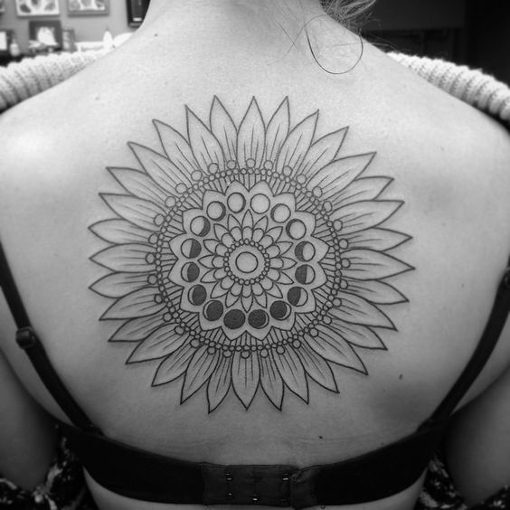 Began this lovely #sunflower and #moonphases mandala this afternoon  Thanks Julie!! #denver #denvertattoo #denvertattoos #denvercolorado #denvertattooartist #co  #colorado #coloradotattooers #tattoo #tattoos #tattooartist #mandala #mandalatattoo #mandalatattoos #moontattoo #moon #sunflowertattoo #sunflowertattoos #firsttattoo #firsttattoos #gobigorgohome #backtattoo