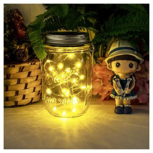 Bar NEWYANG Solar Mason Jar Lights etc. Wedding Party Hanging Lights for Garden Courtyard Cafe,Christmas,Wall,Table,Tree,Fence Led Water-Proof Outdoor Fairy Lights Warm