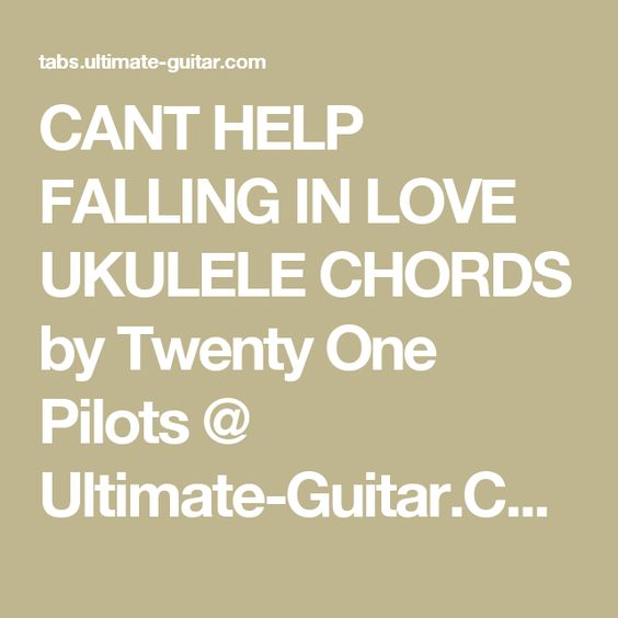 Ukulele ukulele tabs twenty one pilots : Pinterest • The world's catalog of ideas