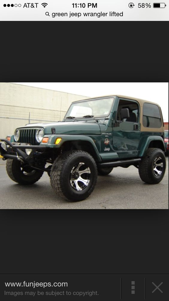 Green Jeep Wrangler lifted 2 door | Somethin about a jeep ...