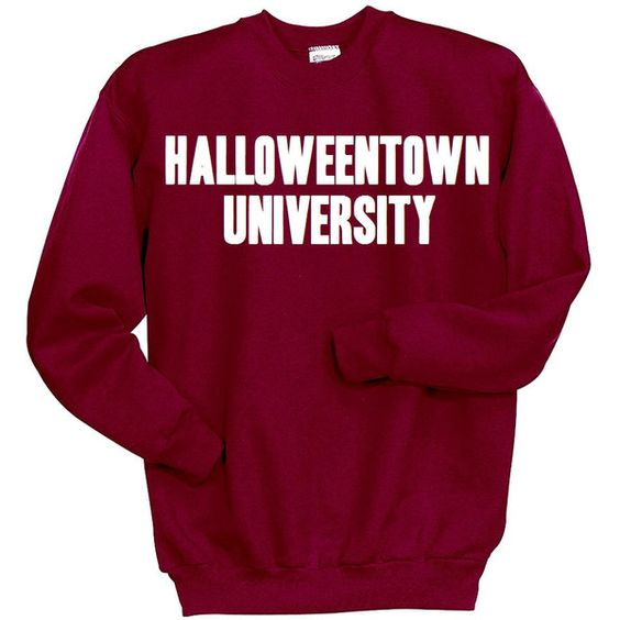 Halloweentown University Sweatshirt, Disney Halloween Shirt, Funny... (£18) ❤ liked on Polyvore featuring disney