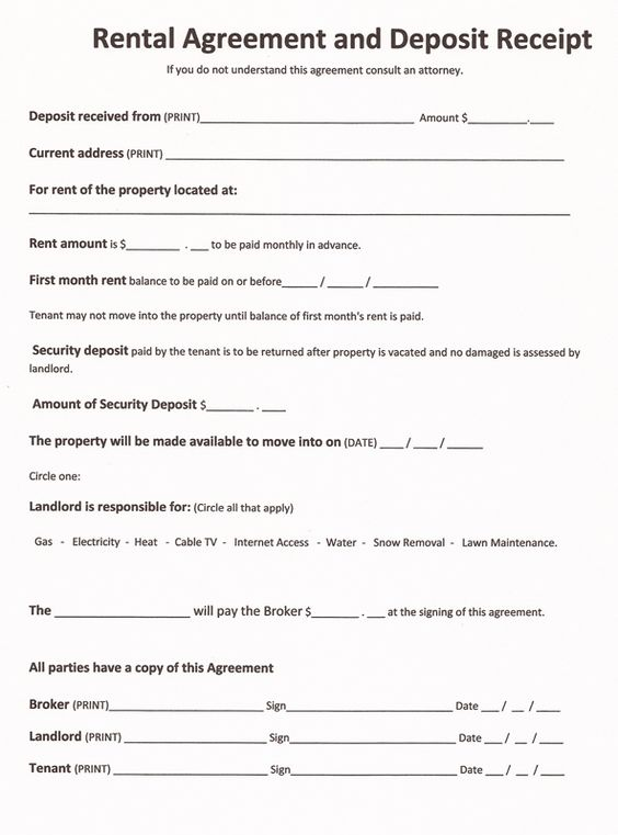 5 checkpoints before you sign a rent agreement Renting - basic rental agreement letter template