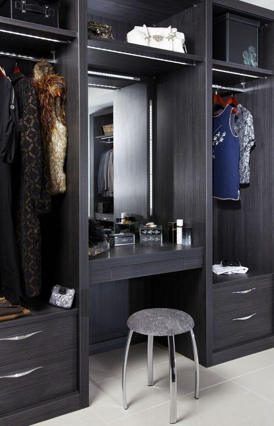 Built In Wardrobe Vanity Dressing Table Wardrobe Solutions Closet Features  Storage Ideas