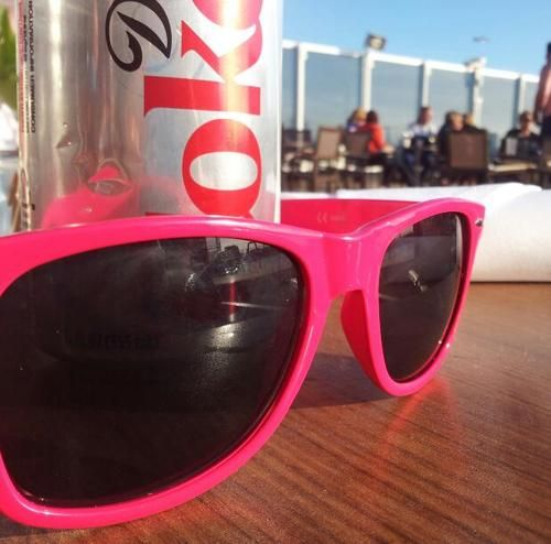pink sunglasses and diet coke :-)