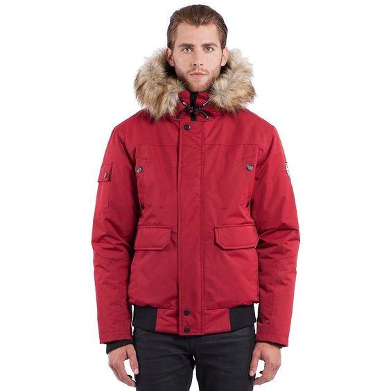 Noize Faux-Fur Hooded Bomber Jacket Size:
