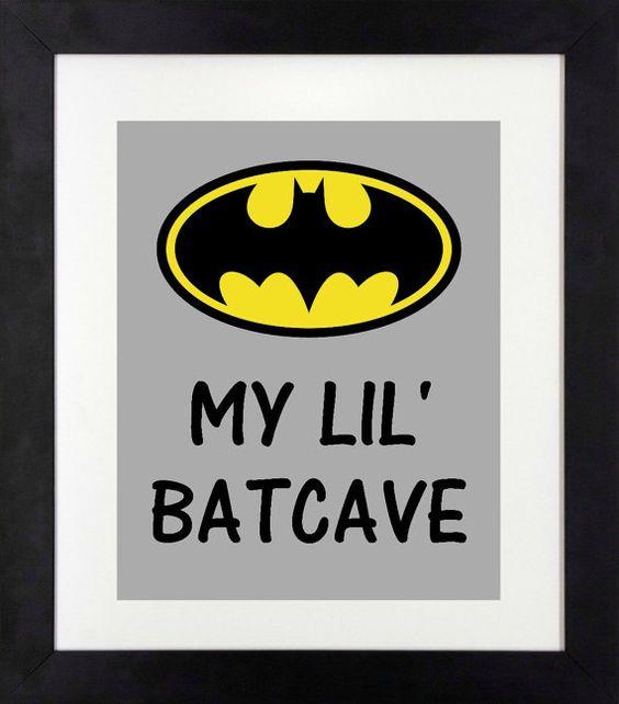 My Lil' Batcave Print // Batman Art // Batman by NothingPanda