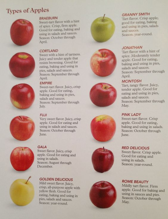 Apple Varieties And Uses Chart Cake