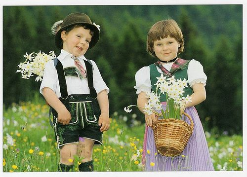 Austrian Children in Traditional Costume, Austria:
