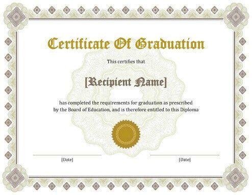Free Printable Diploma Template Bachelor Degree Certificate Template Free Certificate Templates Graduation Certificate Template Degree Certificate