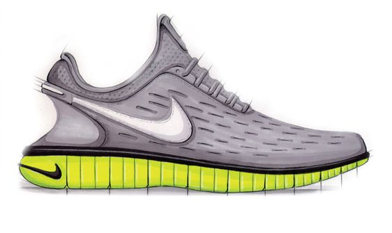 Sneaker Sketch of the Week // Eric Avar's Nike Free 5.0   Sole Collector