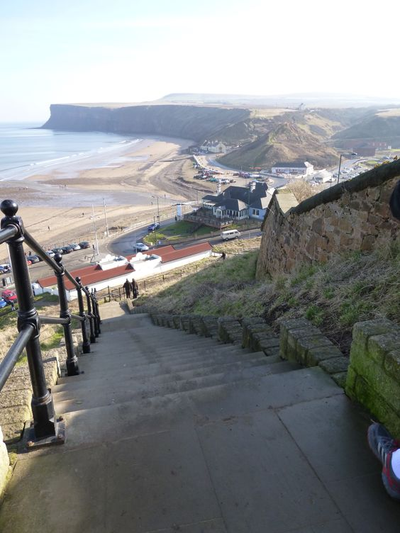 Saltburn-By-The-Sea. With Jane Gardam in A Long Way From Verona. (It's actually set in this general area, The North Sea towns in the Teesside district, not this particular town.