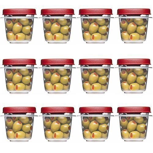 Rubbermaid 712395886298 Easy Find Lids Square 1 2 Cup Food Storage Container Pack Of 12 Cups 12 Counts Food Storage Containers Storage Containers Rubbermaid
