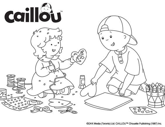 Caillou Coloring Sheet – February Crafts!