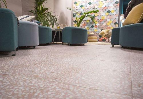 Carrelage Imitation Terrazzo Granito 30x30 Cm Amalfi Rosa Anti Derapant R10 0 99m Carrelage Granito Terrazzo