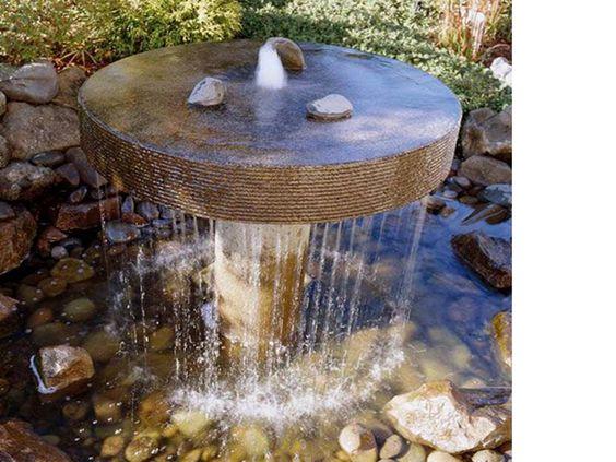 Fuentes de agua para jardines un ambiente c lido lleno for Jardines con fuentes
