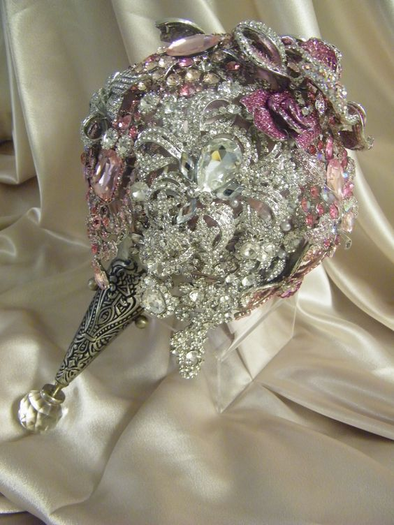 "The ""Berkeley"" crystal brooch bouquets Inc. The couture experience in luxury brooch bouquets.  Renee Strauss for the Platinum Bride and the hit Television show ""Brides of Beverly Hills"" season 2 airing in October! Stay tuned!  http://www.crystalbroochbouquets.com/"