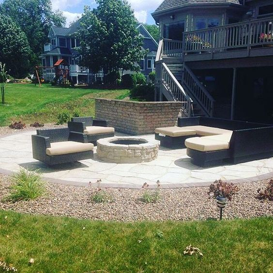 New backyard patio with fire pit, can't wait to get mine done! http://zillges.com/ #backyard #landscape