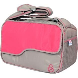 Bolsa para Bebês Galzerano Cinza/Rosa, oferecem qualidade, durabilidade e amplo espaço de armazenamento.    Alça regulável permitindo o uso em 3 posições: mão, tira colo e transversal