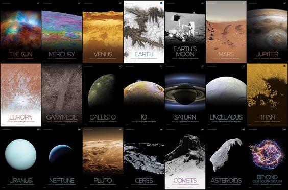 Solar System and Beyond Poster Set   NASA Solar System Exploration